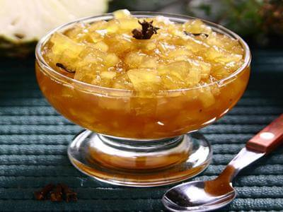 Compota rápida de abacaxi e laranja