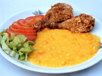 receita de coxa de frango com creme de milho