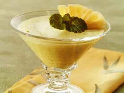 receita de musse de abacaxi com hortelã