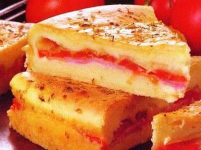 receita de torta de presunto e queijo