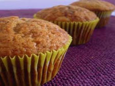 receita de muffin de banana e chá verde