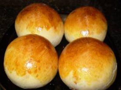 Pão bolinha recheado