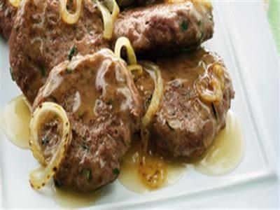 receita de mini-hambúrguer com colho de cebola e vinho