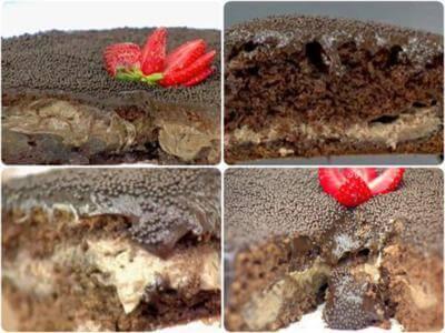 Receita de bolo de chocolate recheado de forno