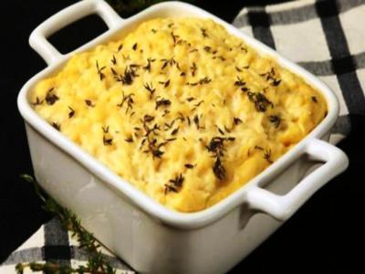 Batatas com molho de mostarda
