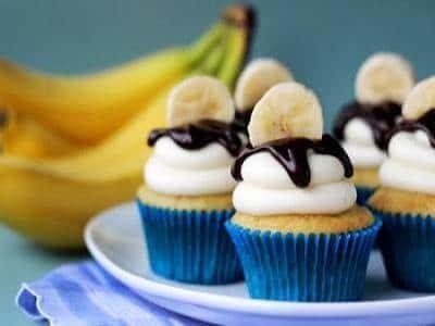 receita de cupcake de banana