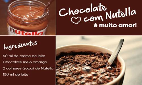Receita de chocolate quente com nutella