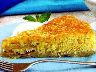 receita de torta rápida de banana