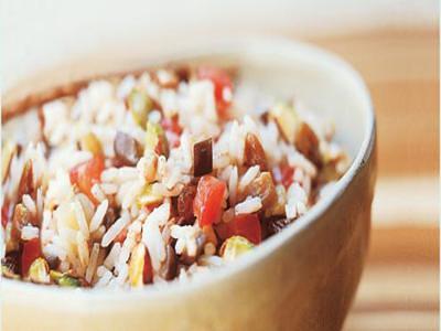 Receita de arroz com berinjela