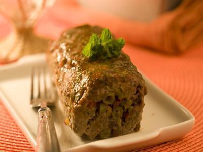 Receita de bolo de carne com legumes