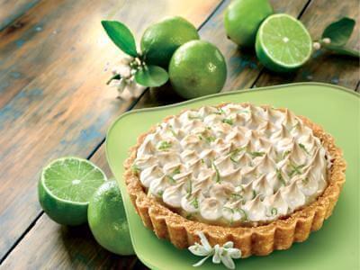 Torta de limão com cobertura