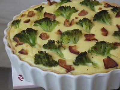 Torta de carne com brócolis
