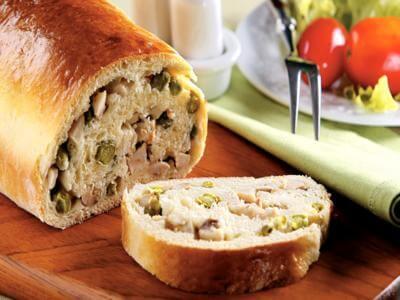 Receita de pão de frango com ervilha