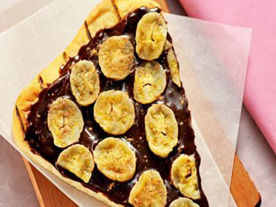 Pizza de chocolate e banana