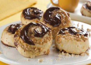 Receita de Rosquinha de amendoim e chocolate