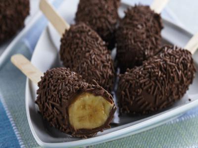 Receita de banana com chocolate