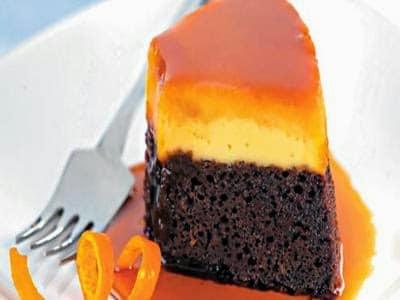 Receita de bolo-pudim de chocolate