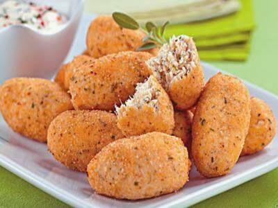 Receita de croquete de frango e queijo