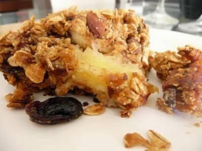 Receita de crumble (torta) de maça e passas