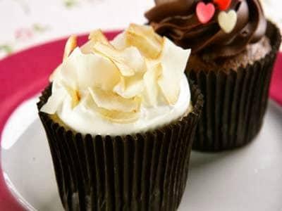 Receita de cupcake com cobertura de merengue