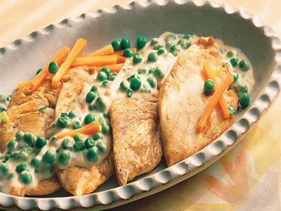 Receita de frango com molho de ervilha