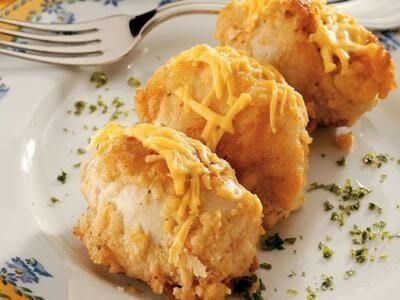 Receita de rolinho de frango com presunto e queijo