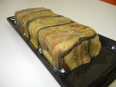 Receita de terrine de berinjela e pimentão