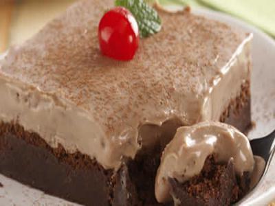 Receita de torta cremosa de chocolate