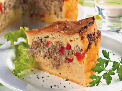 Torta de carne com maionese