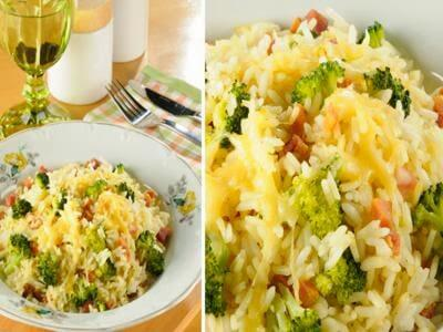 Receita de arroz de forno com brócolis