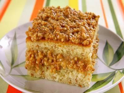 Receita de bolo de amendoim