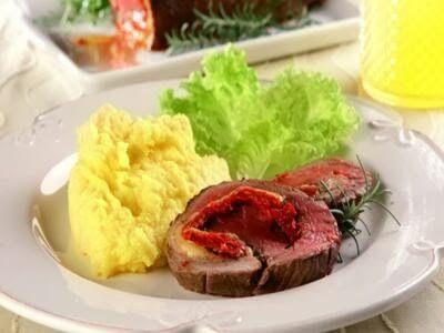 Receita carne recheada