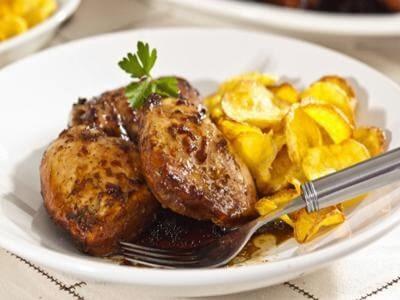 Receita de frango com mandioquinha chips