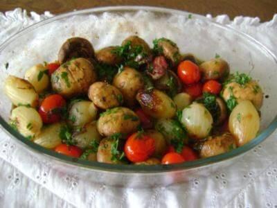 Receita de salada assada