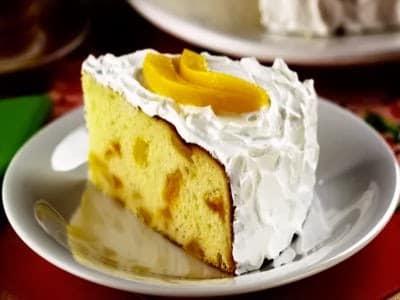 Receita de bolo de pêssego em calda