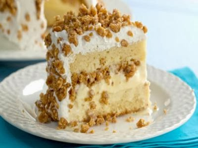 Receita de bolo de sorvete com crocante