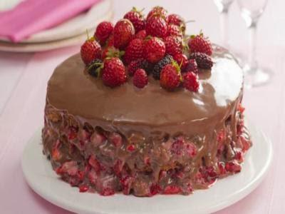 Receita de bolo delícia de morango