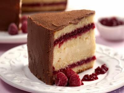 Receita de bolo dois cremes