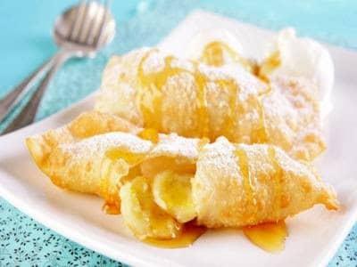 Tortinhas fritas de banana