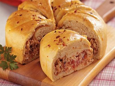 Receita de torta de frango com massa de pão