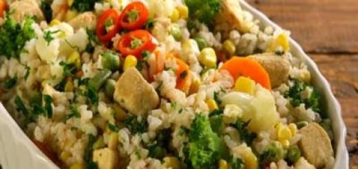 arroz-integral-com-frango-e-legumes