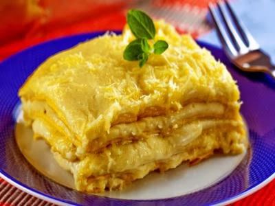 Receita de lasanha aos quatro queijos