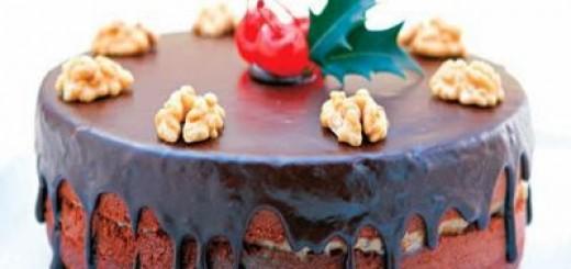 Receita de bolo de chocolate com recheio de nozes