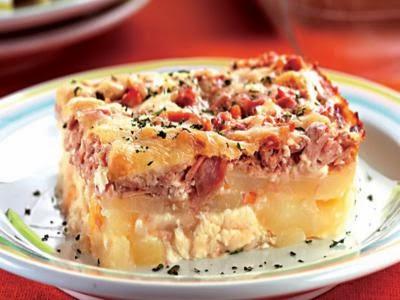 Receita de gratinado de batata com atum
