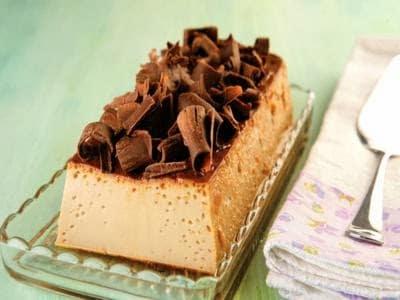 Pudim de chocolate simples