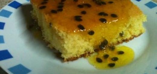 Receita de bolo de maracujá