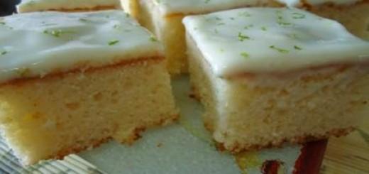Receita de bolo gelado de limão