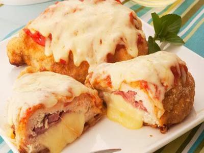 Receita de frango à parmegiana com tender e queijo