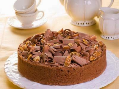 Receita de torta de chocolate e nozes