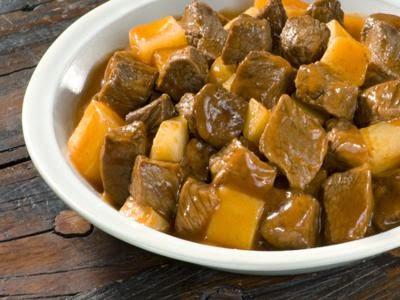Receita de carne com batata e almeirão
